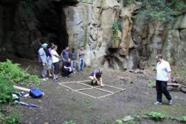 Team logic puzzle during offsite event