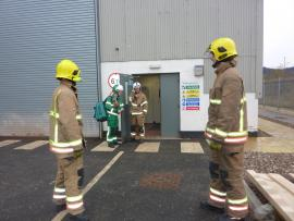 Picture - Emergency Services engaged in joint crisis management training at client site