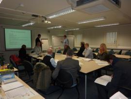 Client management training using real scenarios